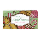 Custom Gingerbread Christmas Labels