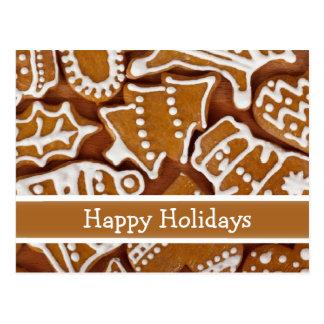 Custom Gingerbread Holiday Card Postcard