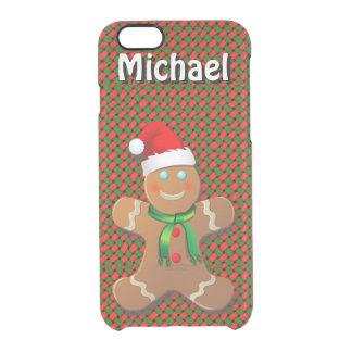Custom Gingerbread Man Clear iPhone 6/6S Case