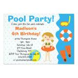 Custom Girl Birthday Pool Party