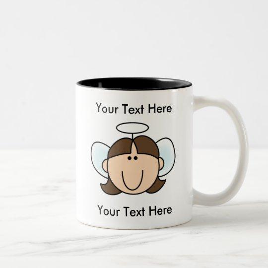 Custom Girl Brown Angel Mug - Customisable