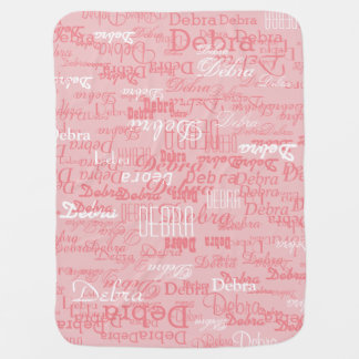 custom girl color names, personalized pink swaddle blankets