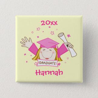 Custom Girl Graduate Graduation Button