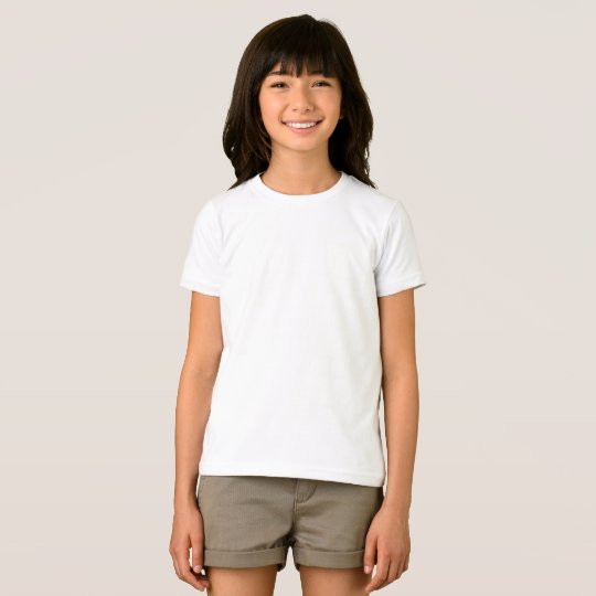 Girls' American Apparel Fine Jersey T-Shirt, White