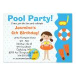 Custom Girl's Birthday Pool Party