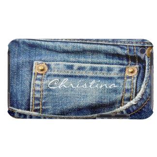 Custom girls name denim jeans ipod touch 4g case iPod Case-Mate case