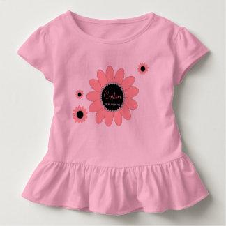 Custom Girls Ruffle T-Shirt - Blooming