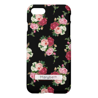 Custom Girly Black Floral iPhone 8/7 Case