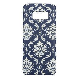 Custom Girly Chic Vintage Navy Blue Damask Pattern Case-Mate Samsung Galaxy S8 Case