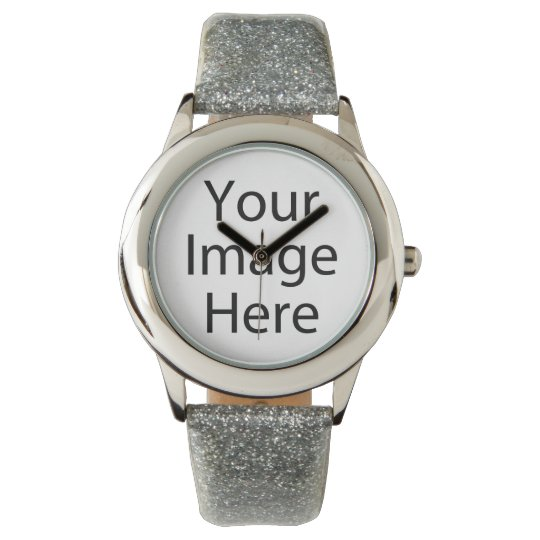 Custom Glitter Strap Stainless Steel Faced Watch