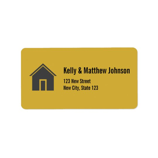 Custom Gold Address Labels