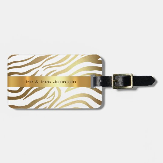 Custom Gold Africa Zebra Safari Animal Skin Shiny