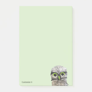 Custom Gold and Silver Burrowing Owl Post-it Notes