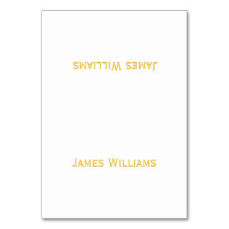 Custom Gold And White Table Place Setting Cards Table Cards