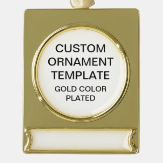 Custom Gold Color Christmas Ornament Template