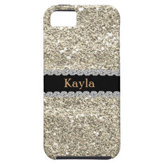 Custom GOLD GLITTER Bling I PHONE 5s iPhone 5 Covers