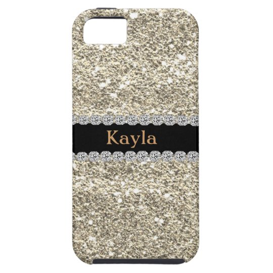 Custom GOLD GLITTER Bling I PHONE 5s iPhone