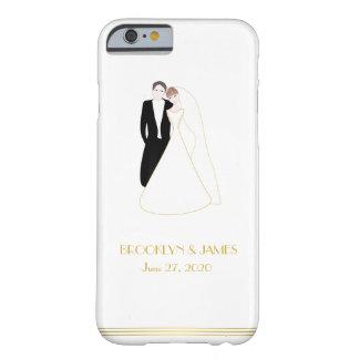 Custom Gold Great Gatsby Wedding iPhone 6 Cases
