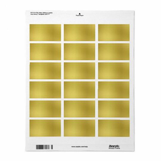Custom Gold Metallic Look Template Background Label