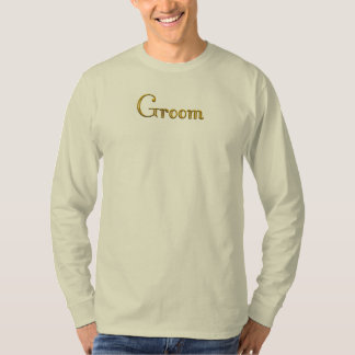 Custom Gold Monogram shirt Groom