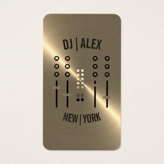 Custom Gold-Tone DJ Business Card 2018