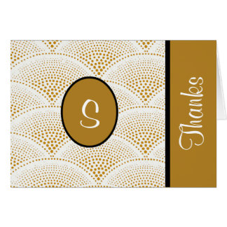 Custom Golden Designer Thank You Notes Note Card