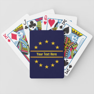 CUSTOM GOLDEN STARS playing cards
