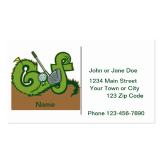 Custom Golf Graphic Pack Of Standard Business Cards