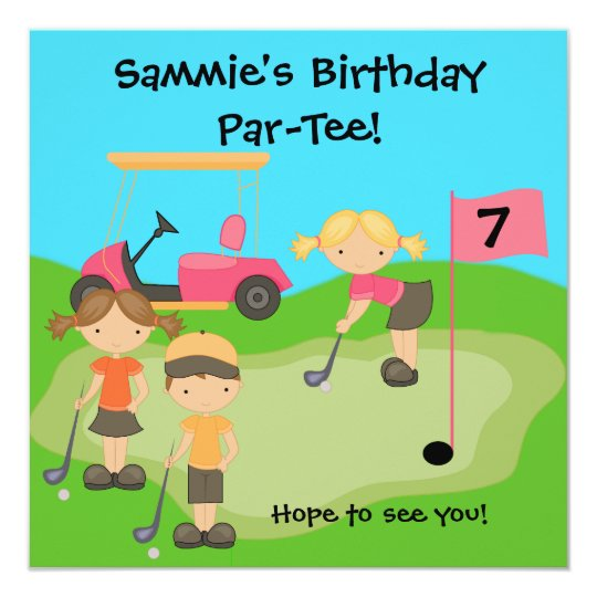 Custom Golf Outing Birthday Invitations