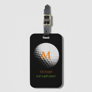 custom golf-player name luggage tag