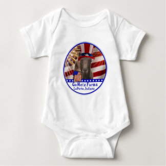 CUSTOM GOMETZ FARMS PATRIOTIC GOAT BABY BODYSUIT