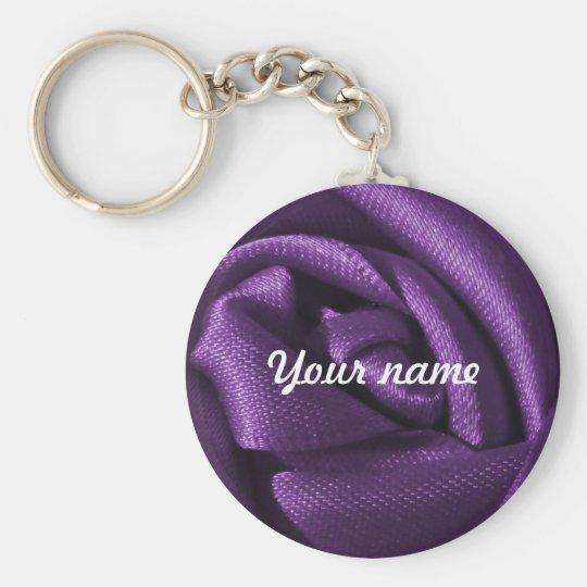 Custom Gothic Dark Purple Rose Basic Round Button
