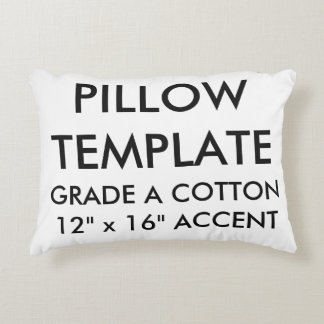 Custom Grade A Cotton Accent Pillow Blank Template