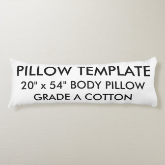 Custom Grade A Cotton Body Pillow Blank Template