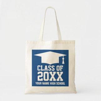 Custom graduate year graduation party tote bags