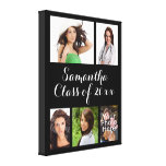 Custom Graduation Photo Collage Wrapped Canvas