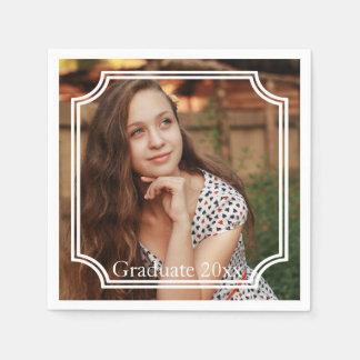 Custom Graduation Photo Party Paper Napkin Set