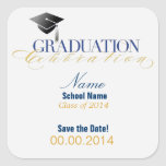 Custom Graduation Save the Date Stickers!