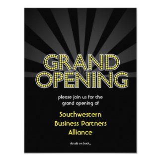 Custom Grand Opening Invitation, City Lights 11 Cm X 14 Cm Invitation Card