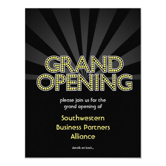 Custom Grand Opening Invitation, City Lights Card