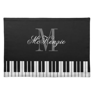 Custom grand piano keys placemats for dinner