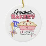 Custom Grandmas Bakery Christmas Tree Ornament