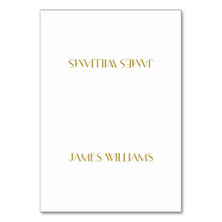 Custom Great Gatsby Gold Art Deco Place Card Table Cards