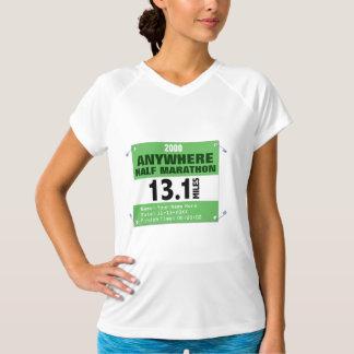 Custom Green Anywhere Half-Marathon, 13.1 Miles T-Shirt