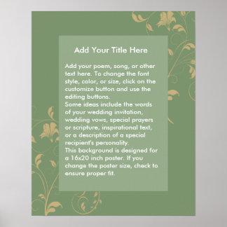 Custom Green Background for Poster