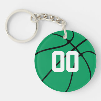 Custom Green Basketball Key Chain