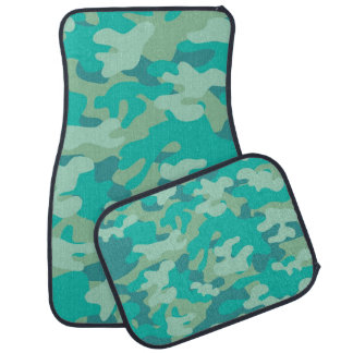 Custom Green Camouflage Car Mats