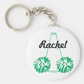 Custom Green Cheerleading Key Chain