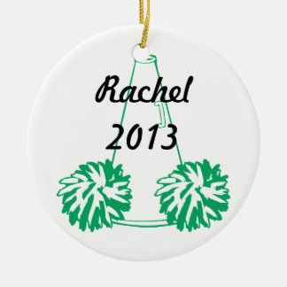 Custom Green Cheerleading Ornament
