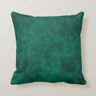 Custom Green Grunge Pillow for Home Office Décor